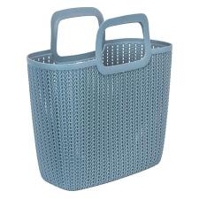"""CURVER Kötött hatású bevásárló táska, CURVER """"Knit"""", kék kézitáska és bőrönd"""