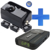 D4P 4.0 rejtett lézerblokkoló, 4 lézerfej + Kiyo GPS700 GPS detektor telepített traffipaxokhoz