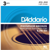 D´Addario EJ16 Phosphor Bronze Light 12-53 (3 Pack)