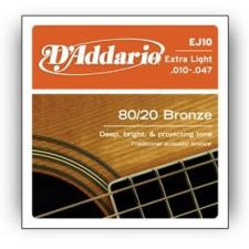 D'Addario EJ10 húrgarnitúra akusztikus gitárhoz gitár kiegészítő