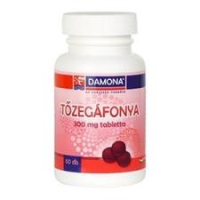 Damona Tőzegáfonya 300 mg tabletta 60db táplálékkiegészítő
