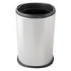 DAY-CO METAL Fedél nélküli, rozsdamentes acél szemetes kuka, 5 liter, 18x26cm, fényes 430S.S. 12db/kart