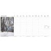 DAYLINER Asztali naptár képes Dayliner álló fehér lapos Magyarország 2019.