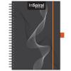 DAYLINER InSpiral, A5 Notes, vonalas jegyzet, Fekete-Narancs