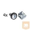 DBX START.LAN 19''/10'' rack mounting set - 4pcs