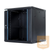 DBX START.LAN fali rack szekrény 19'' 12U 600x600mm fekete