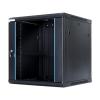 DBX START.LAN fali szekrény 19 12U 600x600mm fekete
