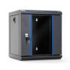 DBX START.LAN rack wall-mount cabinet 10 6U 312x300mm black (glass front door)