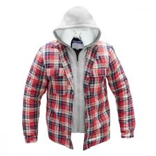 DEDRA BH63KF-L flanel pulóver, bélelt kapucnival, méret: l munkaruha