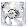 Deepcool DeepCool Cooler 8cm - XFAN 80L/B (20dB; max. 37,03 m3/h; 3pin csatlakozó; ház hűtésre, kék LED)
