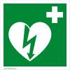 Defibrillatorok.hu - Magyarország Defibrillátor jelző 15x15 műanyag tábla