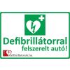 Defibrillatorok.hu - Magyarország Defibrillátor jelző autómatrica (40x35 cm Autómatrica)
