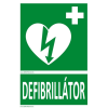 Defibrillatorok.hu - Magyarország Defibrillátor jelző műanyag tábla Defibrillátor felirattal (15x25 cm)