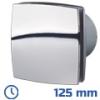 DEKOR ventilátor króm, LDATL (125 mm) időkapcsolós, görd. cs.