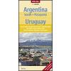 Dél-Argentína (Patagónia) és Uruguay térkép - Nelles