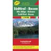 Dél-Tirol - Bozen Top 10 Tipp autótérkép - f&b AK 0611