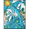 Delfines Üvegmatrica kifestő készlet - 24x33 cm - nagyon élénk színekkel