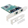 DELOCK 2xGigabit LAN PCI-E LP 89358