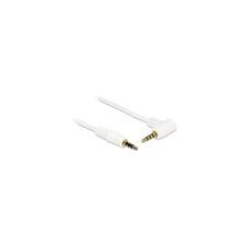 DELOCK 3,5 mm Jack (M) - Jack (M) kábel (fehér, 90 fok, 0,5 m) audió/videó kellék, kábel és adapter
