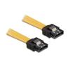 DELOCK 82464 10cm sárga sata kábel