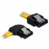 DELOCK 82493 sata sárga 0,5m kábel