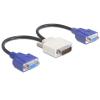 DELOCK Adapter DMS-59 male > 2 x VGA female 20 cm