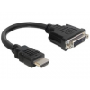 DELOCK adapter, HDMI (M) -> DVI-D (F) (24+1)