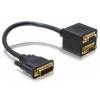 DELOCK Adapter VGA male to 2x VGA female
