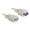 DELOCK adatátviteli kábel DB9F/DB9M 1m