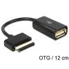 DELOCK ASUS Eee Pad 40pin -> USB A M/F adatkábel OTG fekete