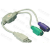 DELOCK Átalakító USB 1.1 to 2x PS2
