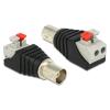 DELOCK BNC -> Terminal block 2pin F/F adapter fekete