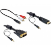 DELOCK Cable DVI - HDMI + Sound male-male 3 m (844