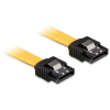 DELOCK Cable SATA 6 Gb/s 20 cm straight/straight metal yellow