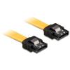 DELOCK Cable SATA 6 Gb/s 30 cm straight/straight metal yellow