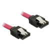 DELOCK Cable SATA 6 Gb/s 70 cm straight/straight metal red