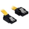 DELOCK Cable SATA 6 Gb/s male straight>SATA male upwards angled 50 cm yellow met