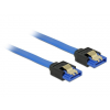 DELOCK Cable SATA 6 Gb/s receptacle straight->SATA receptacle straight 70cm blue