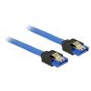 DELOCK Cable SATA 6 Gb/s receptacle straight-SATA receptacle straight 70cm blue