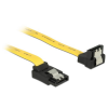 DELOCK Cable SATA 6 Gb/s up/down metal 30 cm yellow