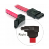 DELOCK Cable SATA down/straight red 50cm (84223)
