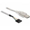 DELOCK Cable USB 2.0-A male to pin header