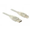DELOCK Cable USB 2.0 Type-A male > USB 2.0 Type-B male 3m transparent