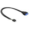 DELOCK Cable USB 3.0 pin header female > USB 2.0 p