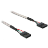 DELOCK Cable USB Pinheader 4pin/5pin female-female (82439)