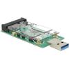 DELOCK Converter USB 3.0 A male > mSATA full size