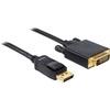 DELOCK DisplayPort - DVI-D Dual Link kábel 1m