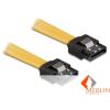 Delock DL82473 SATA sárga egyenes/egyenes csatl. (fémlappal) 30 cm-es összekötő kábel