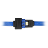 DELOCK Extension cable SATA 6 Gb/s receptacle straight SATA straight 50cm blue