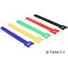 DELOCK Hurkolható rögzítők, 150 x 12 mm (H x Sz), 10 darab, színes